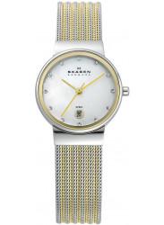 Skagen Women's Ancher Mother of Pearl Dial Two-Tone Mesh Watch 355SSGS