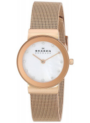 Skagen Women's Freja Mother of Pearl Mesh Watch 358SRRD