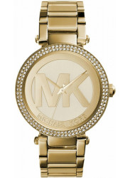 Michael Kors Women's Parker MK Logo Gold Tone Watch MK5784