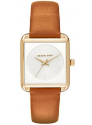 Michael Kors Women's Lake White Dial Leather Watch MK2584