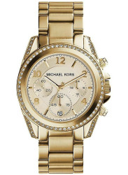 Michael Kors Women's Blair Gold Dial Gold Tone Watch MK5166