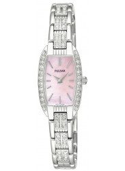 Pulsar Women's Pink Mother of Pearl Crystal Watch PEG987