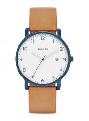 Skagen Men's Hagen Brown Leather Watch SKW6325