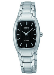 Seiko Women's Solar Black Dial Watch SUP259