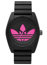 Adidas Men's Santiago Black Silicone Watch ADH2878