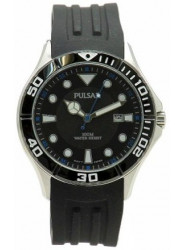 Pulsar Men's Black Dial Black Rubber Watch PH9025X