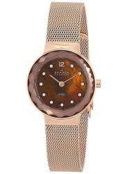 Skagen Women's Leonora Rose Gold Mesh Watch 456SRR1