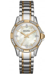Bulova Women's Mother Of Pearl Dial Two Tone Watch 98L203