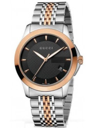 Gucci Men's G-Timeless Black Dial Two Tone Watch YA126410
