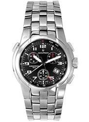 Accutron Men's Chronograph Black Dial Stainless Steel Watch 26B62