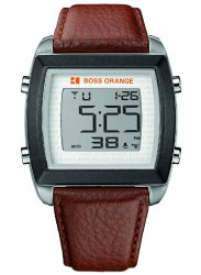 Hugo Boss Orange Men's Digital Dial Brown Leather Watch 1512610