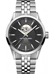 Raymond Weil Men's Freelancer Automatic Open Black Dial Watch 2710-ST-20021