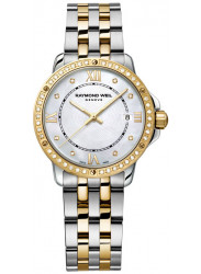 Raymond Weil Women's Tango Mother Of Pearl Dial Two Tone Watch 5391-SPS-00995