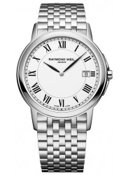 Raymond Weil Men's Tradition White Dial Stainless Steel Watch 5466-ST-00300