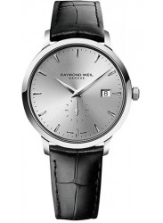 Raymond Weil Men's Toccata Silver Dial Black Leather Watch 5484-STC-65001