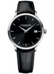 Raymond Weil Men's Toccata Black Dial Black Leather Watch 5488-STC-20001