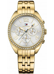 Tommy Hilfiger Women's Mia Chronograph Silver Dial Gold-Tone Watch 1781573