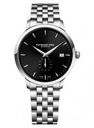 Raymond Weil Men's Toccata Black Dial Stainless Steel Watch 5484-ST-20001