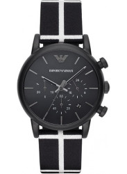 Emporio Armani AR1860 Mens Luigi Black and White Chronograph watch