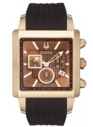 Bulova Accutron Men's Masella Chornograph Brown Silicone Watch 64B115