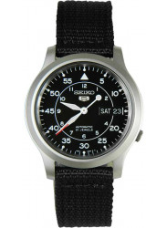 Seiko Men's Automatic Black Dial Canvas Watch SNK809
