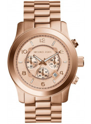 Michael Kors Women's Runway Chronograph Rose Gold Dial Watch MK8096