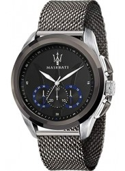 Maserati Men's Traguardo Chronograph Black Dial Black Stainless Steel Watch R8873612006