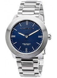 Perry Ellis Unisex Slim Elegant Blue Dial Stainless Steel Watch 07002-02