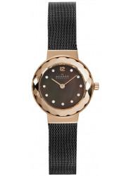 Skagen Women's Leonora Charcoal Dial Mesh Watch 456SRM