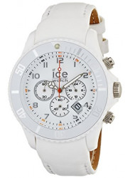 Ice Watch Men's Chronograph White Dial Leather Watch CH.WE.B.L.11