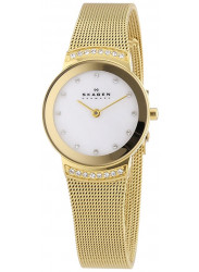 Skagen Women's Mother of Pearl Dial Gold Tone Mesh Bracelet Watch 812SGG