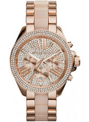 Michael Kors Women's Wren Chronograph Crystal Pave Rose Gold Tone Watch MK6096
