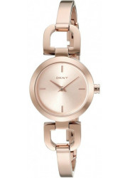 DKNY Women's Rose Dial Rose Gold Tone Watch NY8542