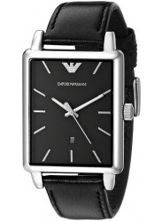 Emporio Armani Men's Classic AR1851 Black Leather Quartz Watch