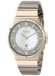 Seiko Women's Swarovski Crystals Gold Tone Stainless Steel Watch SXDG14