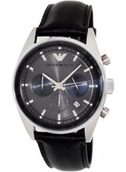 Emporio Armani Men's Sportivo Black Leather Watch AR5994