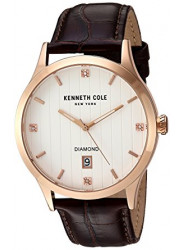 Kenneth Cole Men's New York White Dial Brown Leather Watch 10030783