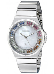 Seiko Women's SXDG55 Analog Display Analog Quartz Silver Watch
