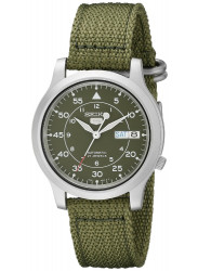 Seiko Men's Automatic Green Dial Canvas Watch SNK805