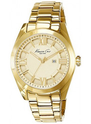 Kenneth Cole Men's Gold Dial Gold Tone Watch 10023857