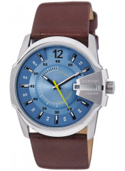 Diesel Men's Blue Dial Brown Leather Watch DZ1399