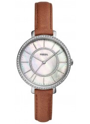 Fossil Women's Jocelyn Mother of Pearl Dial Brown Leather Watch ES4454