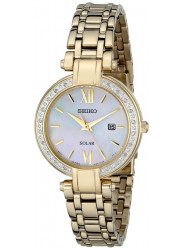 Seiko Women's Solar Gold Tone Diamond Watch SUT182