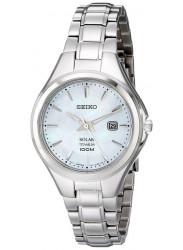 Seiko SUT205 Women's Solar Core Blue MOP Dial Titanium Bracelet Quartz Watch