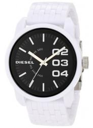 Diesel Men's Black Dial White Silicone Watch DZ1522
