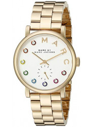 Marc by Marc Jacobs Baker Men's White Dial Gold Stainless Steel Watch MBM3440