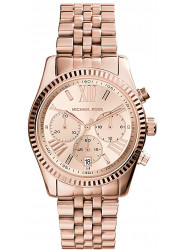 Michael Kors Women's Lexington Chronograph Rose Gold Tone Watch MK5569