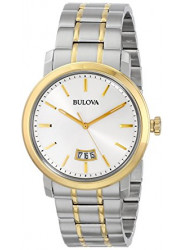 Bulova Men's Dress Two Toned Silver Dial Watch 98B214