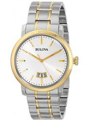 Bulova Men's Dress Two Toned Silver Dial Watch 98B214