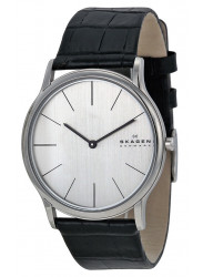 Skagen Men's Ancher Black Leather Watch 858XLSLC